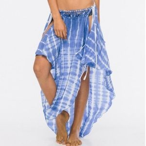 INDAH Jamila Petal Maxi Skirt Cover Up Swim RARE